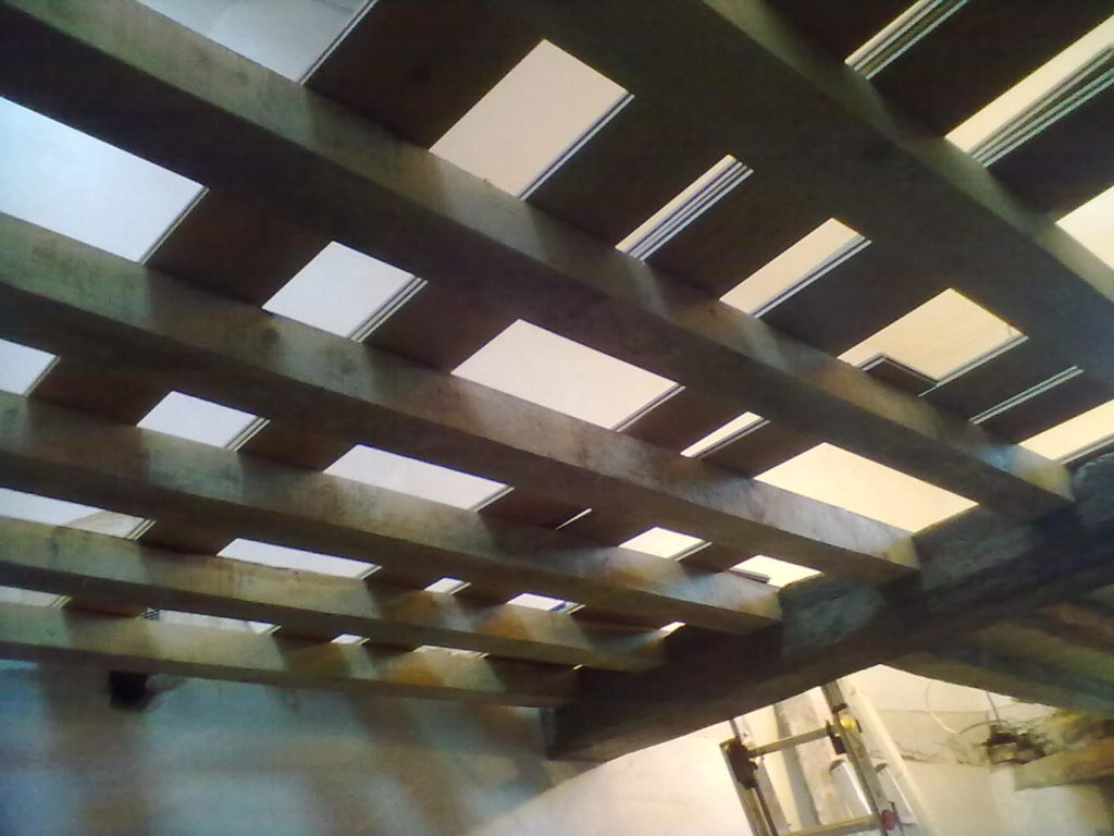 Newly Installed Green Oak Beams and Rafters